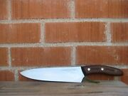 Vintage 8 Blade Chicago Cutlery Ac 42 American Chef Knife Curved Handle Usa
