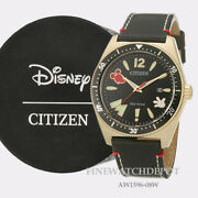 Authentic Citizen Eco-drive Men Disney Mickey Mouse Black Dial Watch Aw1596-08w