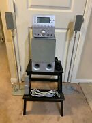 Brookstone Songcube Mp3 Cd Am/fm Player Sub 2 Speakers W/ Stands Remote Tested