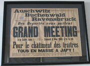 World War Ii Aftermath Framed French Poster Ca. 1945