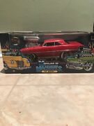 Muscle Machines Blown Red 1967 Chevy Nova 118 Scale Diecast Model Car New