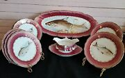 895-1917 Complete 14pc Austrian Fish Serving Set Levi Straus And Sons Ny