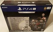 Sony Playstation 4 Pro Limited Edition God Of War 1tb Console New 2018