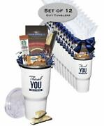 12 Pack - Thank You Tumbler With Starbucks Coffee Ghirardelli Cocoa And Chocolate