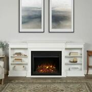 Real Flame 7190e-w Ashton Grand Media Electric Fireplace In White