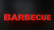 8pc Barbecue Led Black Side Panels Storefront Sign Complete And Ready To Install