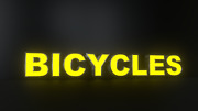 8pc Bicycles Led Black Side Panels, Storefront Sign, Complete And Ready To Install