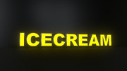 8pc Icecream Led Black Side Panels, Storefront Sign, Complete And Ready To Install