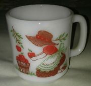 Vtg Glasbake Apple Mug Give What You Have It May Be Better..apples Bonnet Girl