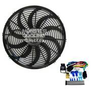1939-1941 Ford Cars Electric Radiator Fan 16 Low Profile 120w And Relay Kit