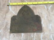 Old Brass Tag-denver Colorado-1890and039s-mining Equipment Gold Pan