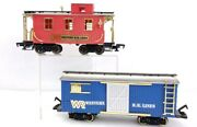 New Bright Trains Wr Western Rr Lines Caboose And Box Car G Scale