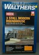 Walthers Cornerstone Ho Scale 3 Stall Modern Roundhouse 933-2900 Sealed