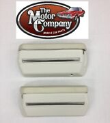 1971 1972 El Camino Armrest Pads And Base With Stainless Trim White J1910xst