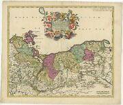 Antique Map Of Pomerania By Covens Andamp Mortier C.1730