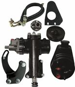Borgeson Power Steering Conversion Kit - 55-57 Chevy W/ 1dd Column And Sbc/swp