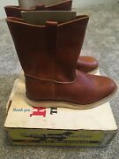 Red Wing 866 Size 9.5 3e Vintage With Dog Tags