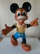 Vintage 1964 Walt Disney Productions Mickey Mouse Large Rubber Toy Rare Example