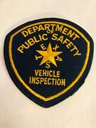Texas Dept. Of Public Safety Highway Patrol Vehicle Inspection Patch