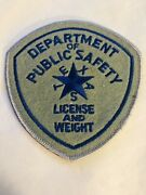 Texas Dept. Of Public Safety Highway Patrol License And Weight Patch