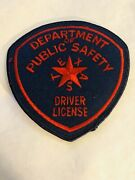 Texas Dept. Of Public Safety Highway Patrol Driver License Patch