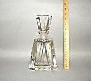 Large Imperlux Genuine Handcut Lead Crystal Decanter Germany 10.5 Tall