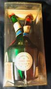 Vintage Dom Benedictine And Brandy Dual Head Bottle W/ Original Case And Insert