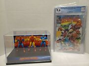 Secret Wars 1 Comic With Action Figures Display And Three Action Figures