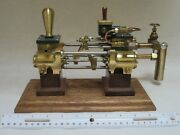 Steam Engine- Boiler Feed Pump- Open Southworth - 8 Long Brass Body- Perfected