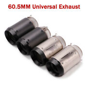 Modified Motorcycle Exhaust System Short Tail Pipe Muffler Tips 60.5mm Universal