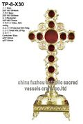 Brass-reliquary-multi-relic-holder-theca-for-church-with-tabor-pedestal Tp-8-x30