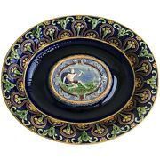 Original And Rare Minton Majolica Stand / Under-plate Modelled By Hamlet Bourne