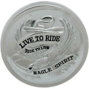 Drag Specialties Live To Ride Non-vented Gas Cap For 84-e96 Models Ds-390137