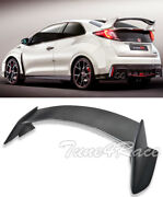 For 16-up Honda Civic Coupe Type R Style Carbon Fiber Rear Trunk Spoiler New