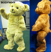 Brown Teddy Bear Mascot High-quality Costume Suits Cosplay Party Game Outfits Ad