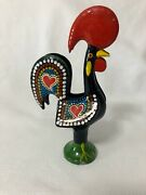 Napkin Holder Metal Rooster Hand Painted Portugal Letter Or Mail Farm To Table