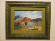 9x12 Org. 1992 Oil Painting By John Gaitha Browning Old House Brownswood Tx