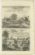 Antique Print Of The Churches Of Cathay And Waranni By Baldaeus 1703