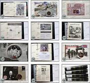 D-day 60th Anniversary Complete Set Fdc Stamps And Coins In 4 X Clip Files Rare