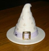Lenox Witch Hat Votive Nib And Ready For Halloween