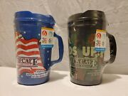 Lamberts Cafe Insulated Travel Mug 36oz Lot Of 2 Home Throwed Rolls Thermo-serv
