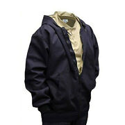 Arcguard National Safety Apparel Flame Fire Resistant Jacket Coat With Hood Navy