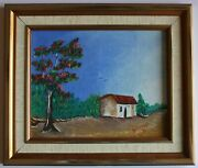 Original Landscape Oil Painting Done By Andres The Big Cat Galarraga 1989