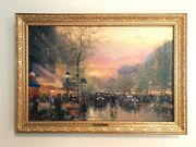 Sold-out Thomas Kinkade Signed Canvas Art Limited Edition Paris City Of Lights