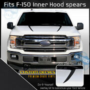 For 2015-2020 Ford F-150 F150 Hood Spears Inner Trim Stripe Decals - Flat Matte