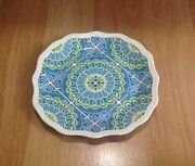 Pier 1 Imports Atlas 8.5 Salad Lunch Luncheon Plate Multicolor Pattern