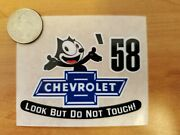 And03958 Felix The Cat Chevrolet Look But Do Not Touch Inside The Glass Die Cut Decal