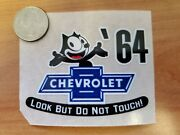 And03964 Felix The Cat Chevrolet Look But Do Not Touch Inside The Glass Die Cut Decal