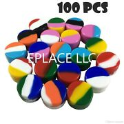 100 5ml Silicone Wax Jar Containers Nonstick Mixed Color New 5 Ml Wholesale Lot