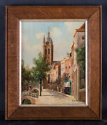 Small George Jan Dispo 1922 - 1973 Oil Painting Canal Scene